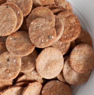 Everything Bagel Whole Wheat Crackers