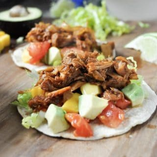 vegan barbeque jackfruit tacos