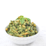 Vegan Avocado Pesto with Cashew Parmesan