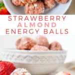 pinterest no bake strawberry almond energy balls