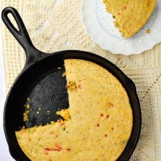 Vegan Jalapeno Pimento Cornbread