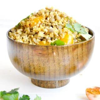 Masala Cauliflower Rice and Lentil Salad
