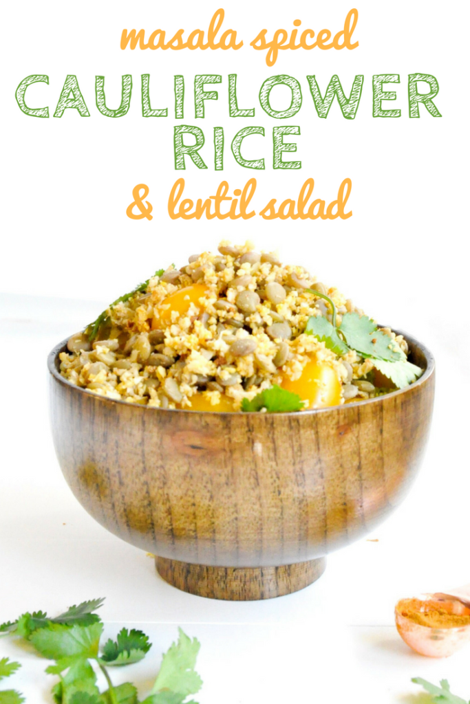 Masala Cauliflower Rice and Lentil Salad