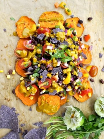 sweet potato nachos black beans