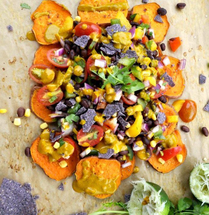 sweet potato nachos black beans