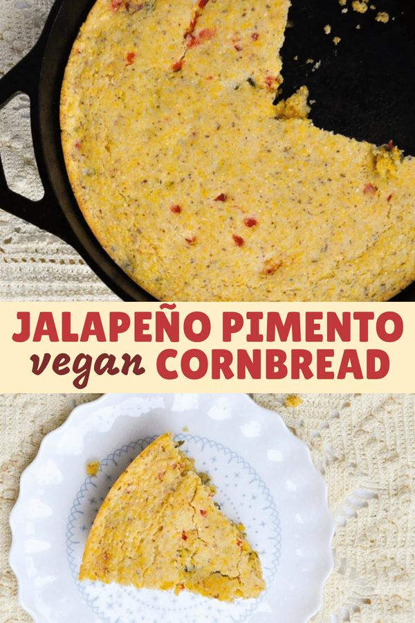 Vegan Jalapeño Pimento Cornbread