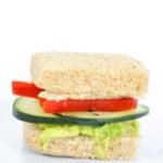 Close up of cucumber sandwich