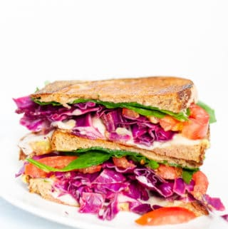 Veggie Reuben with quick pickled cabbage