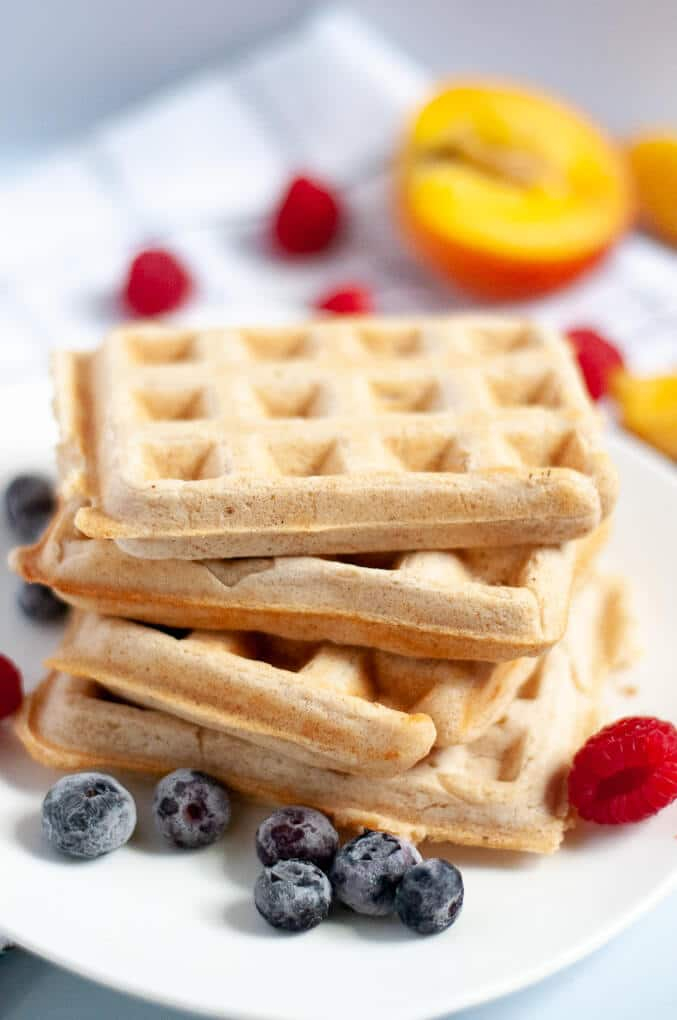 Fluffy Vegan Waffles