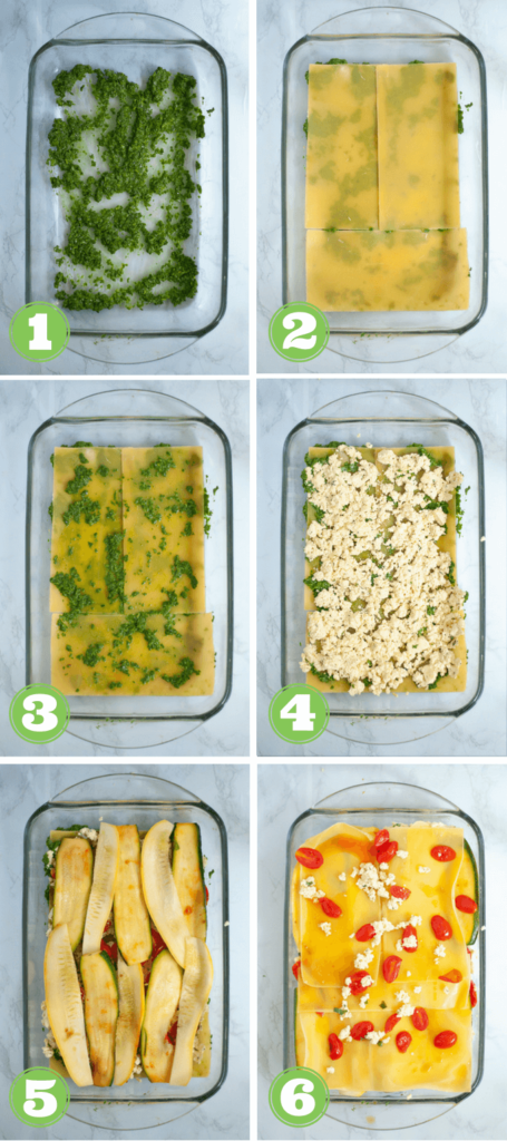 Step by step directions for layering lasagna
