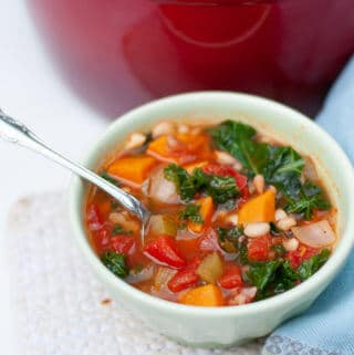 Vegan Black Eyed Pea Soup with Sweet Potatoes and Kale