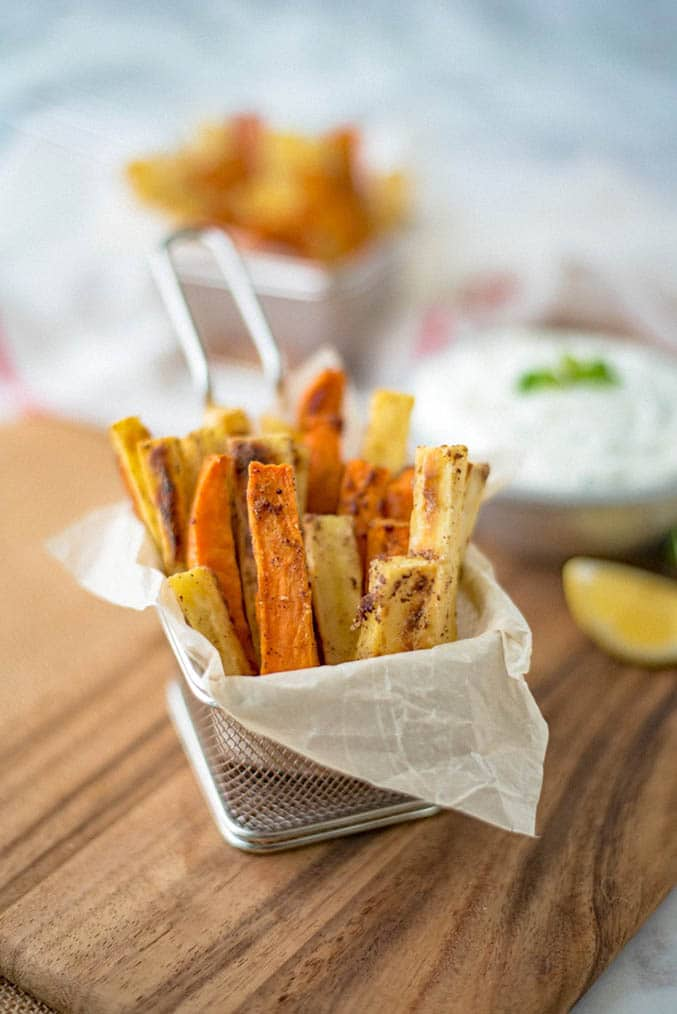 Fries in small frier basket