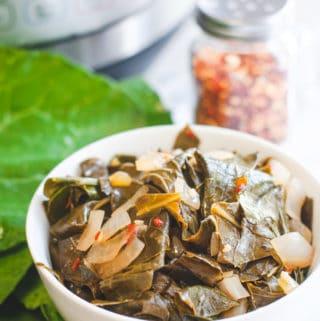 Savory Vegan Collard Greens (Instant Pot or Stove Top)