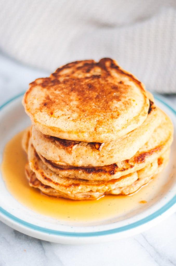 Fluffy Vegan Sweet Potato Pancakes