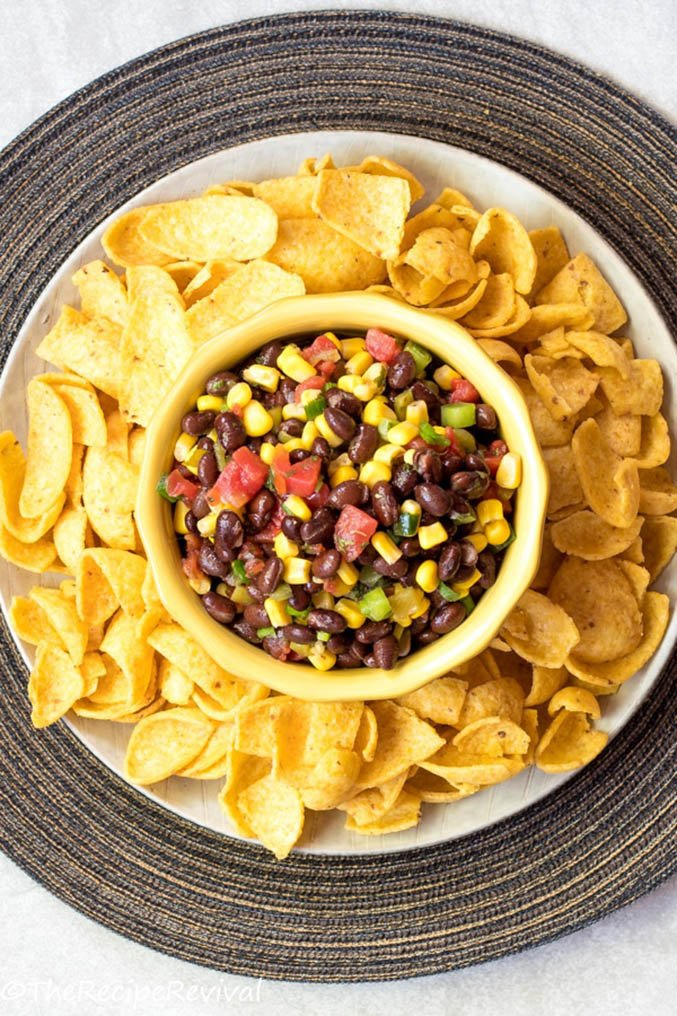 Black bean and corn chip