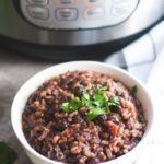 Instant Pot Brown Rice and Black Beans