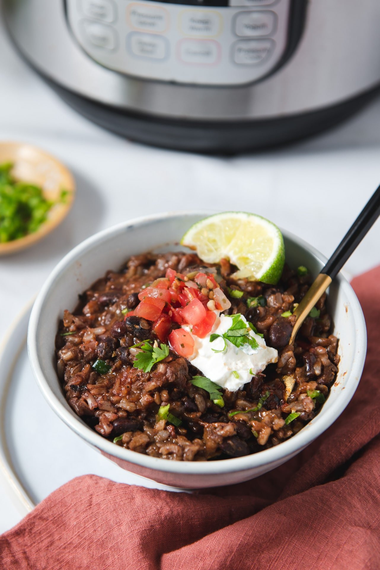 Instant Pot Black Beans And Rice Cozy Peach Kitchen