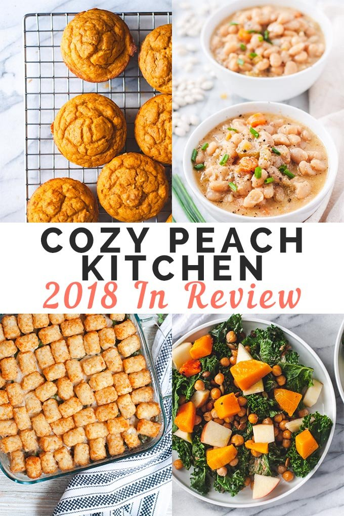 "Graphic labeled ""Cozy Peach Kitchen 2018 Year in Review"""