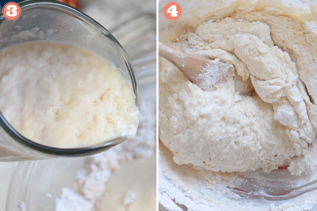 Steps 3 and 4 to make biscuits