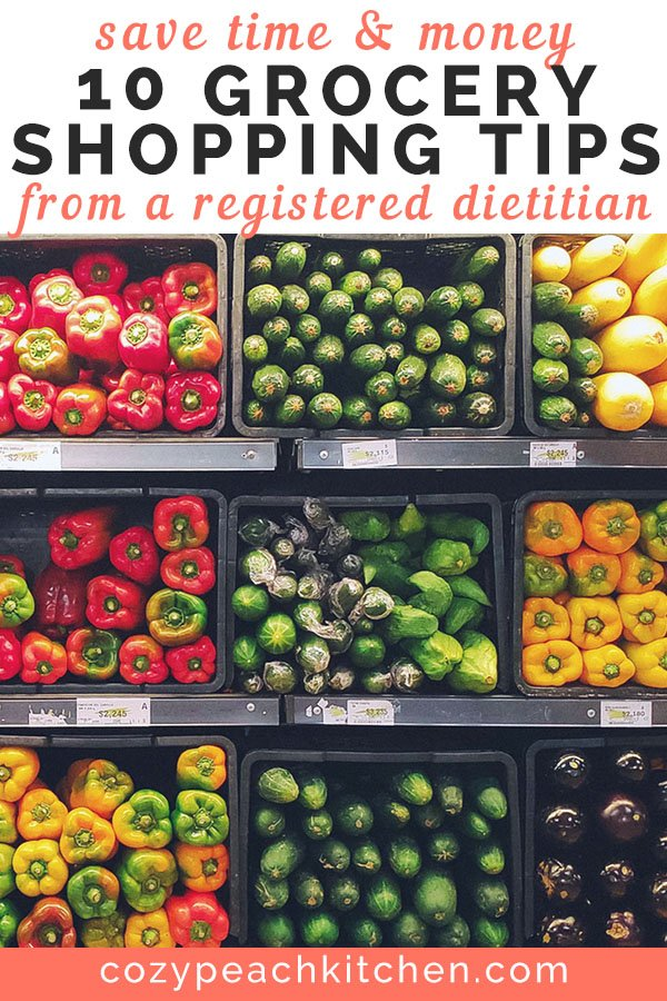 Graphic showing grocery store shelves filled with vegetables