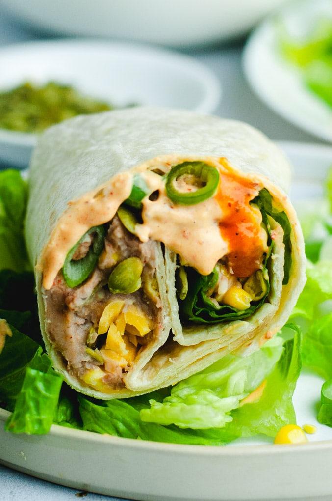 Easy Vegetarian Bean Burritos