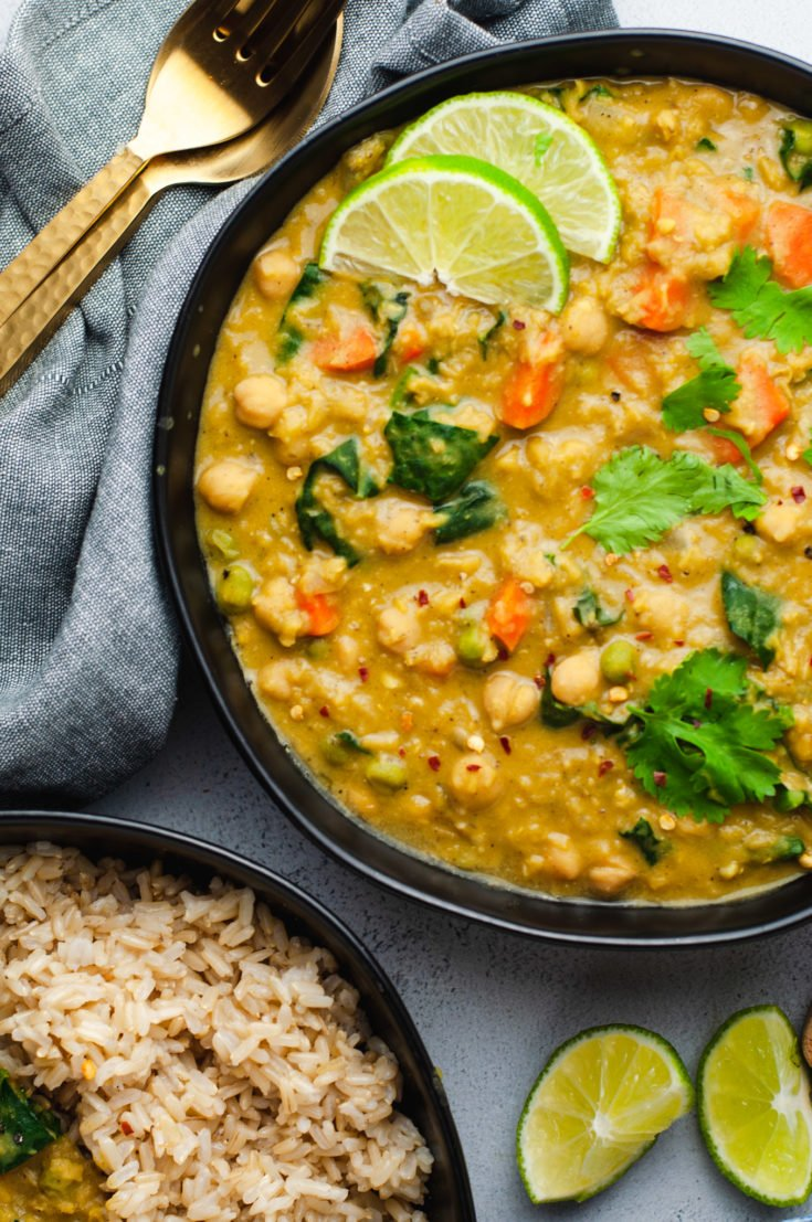 Vegetarian Red Lentil Coconut Curry