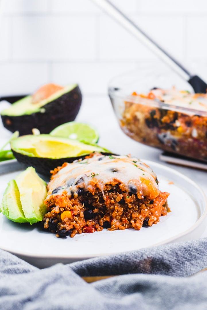 Vegetarian Black Bean Quinoa Casserole