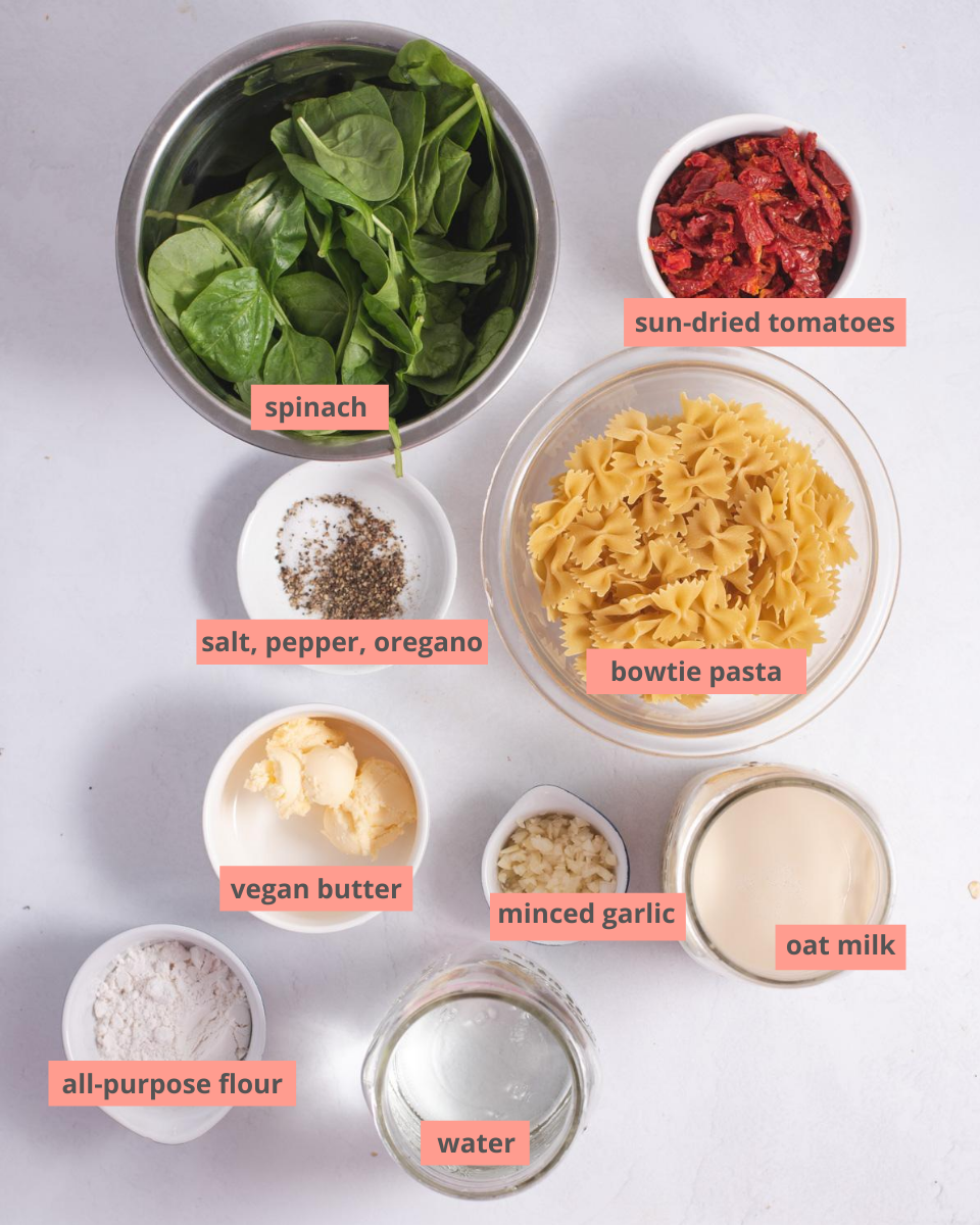 Labeled recipe ingredients