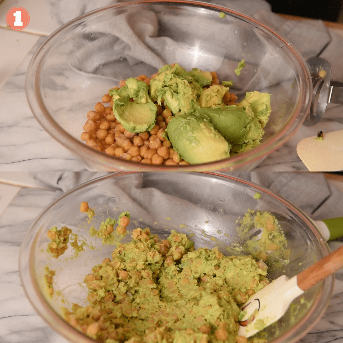 Step 1 to make avocado salad