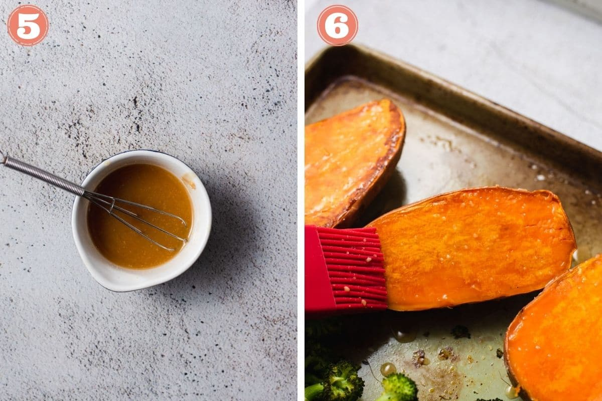 Steps 5 and 6 to make miso glaze
