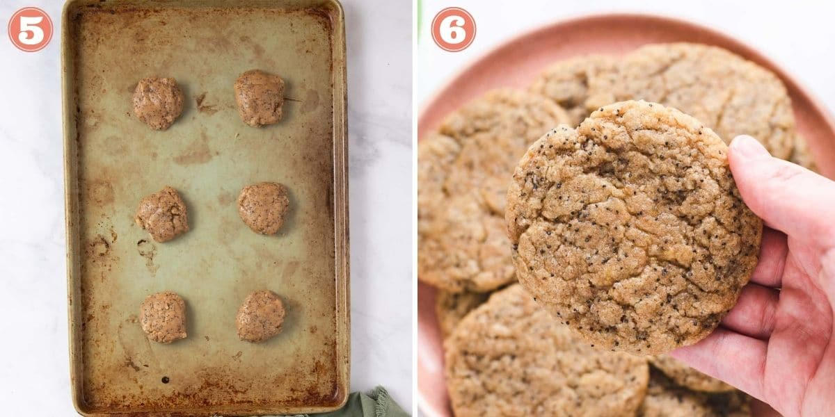 Steps 5 and 6 to make cookies